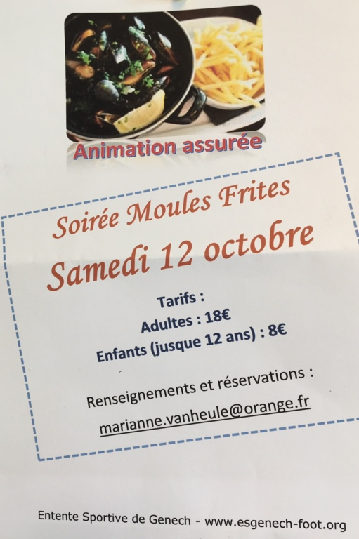Calendrier Saison Des Moules.Moules Frites Reportees Au Samedi 16 Novembre 2019 Es